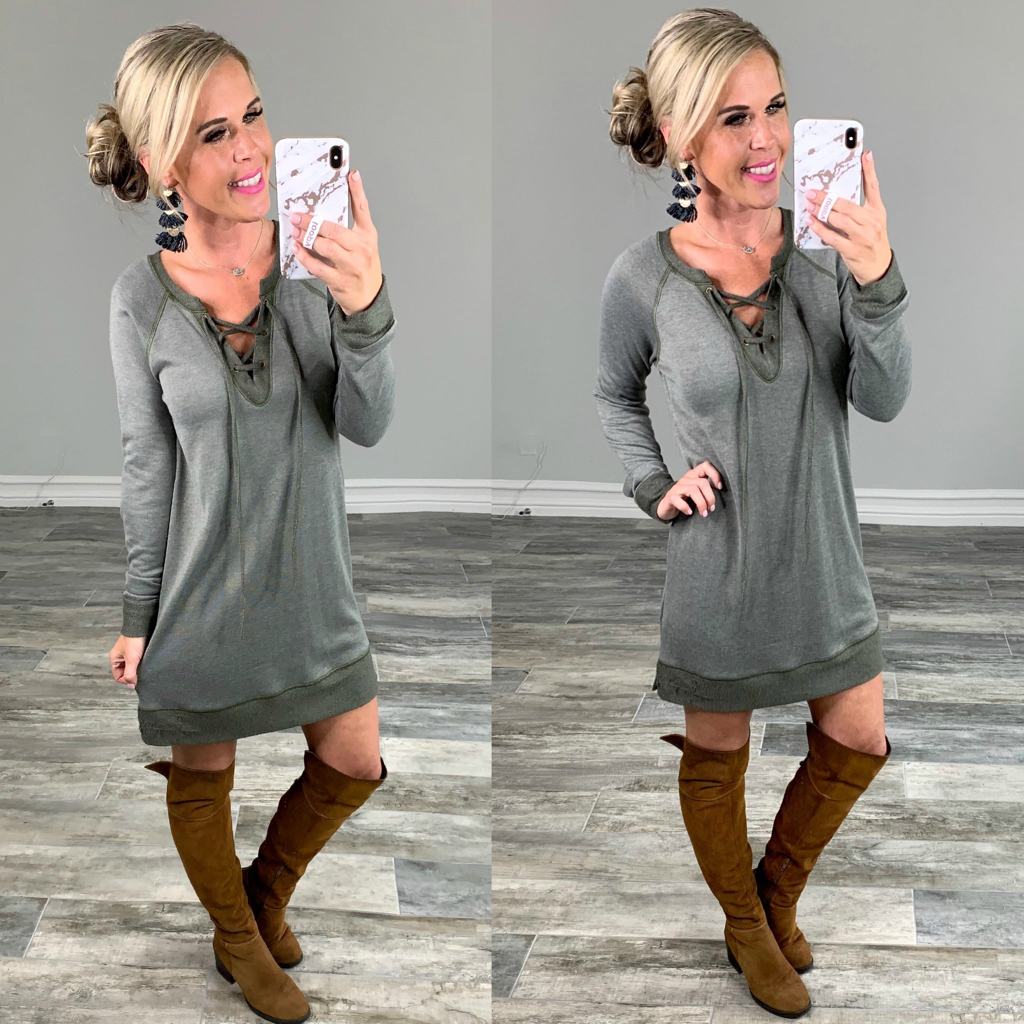Tie Up Tunic Dress