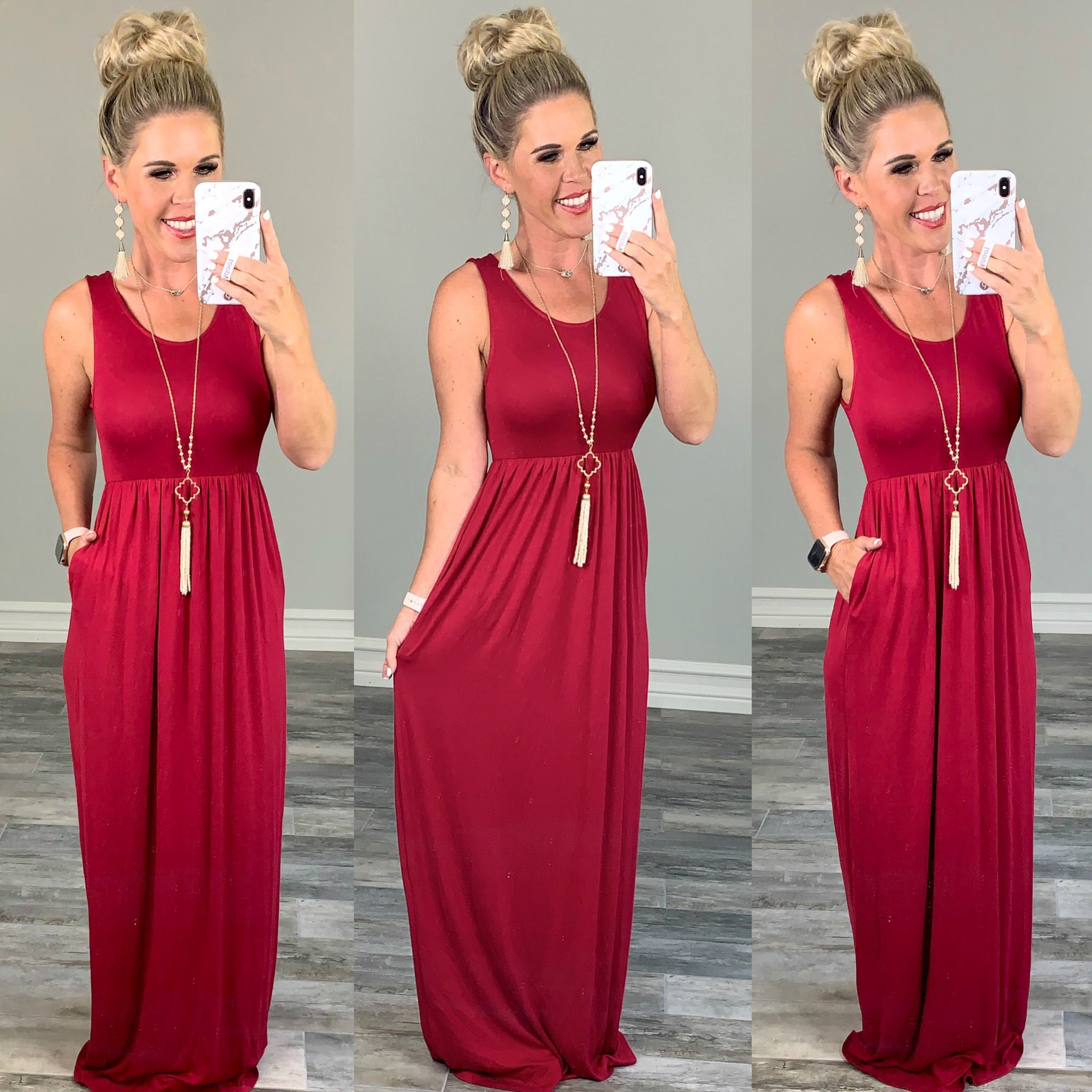I'll Be By the Pool Maxi Dress - Red