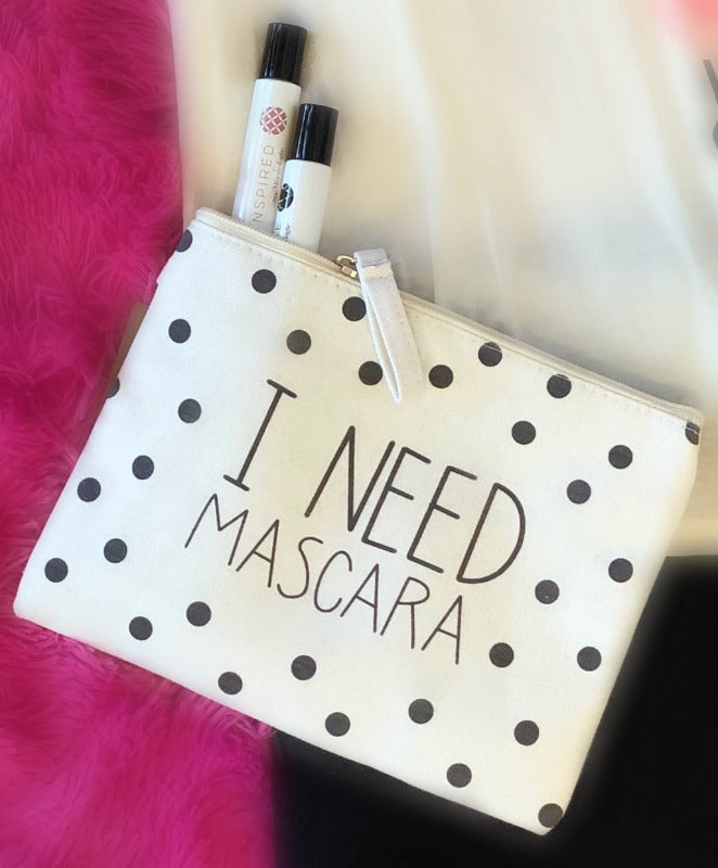 I Need Mascara Travel Pouch
