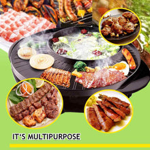 Load image into Gallery viewer, KOREAN STYLE 2 IN 1 SMOKELESS HOTPOT & BARBECUE GRILL