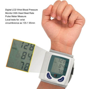 Digital Wrist Blood Pressure Monitor & Pulse Rate Meter