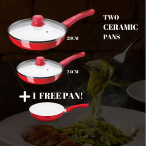CERAMICORE - 5PCS SET NON-STICK CERAMIC FRYING PAN