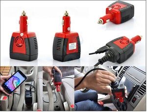 Car Power Inverter Adapter With USB Charger Port