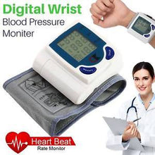 Load image into Gallery viewer, Digital Wrist Blood Pressure Monitor & Pulse Rate Meter