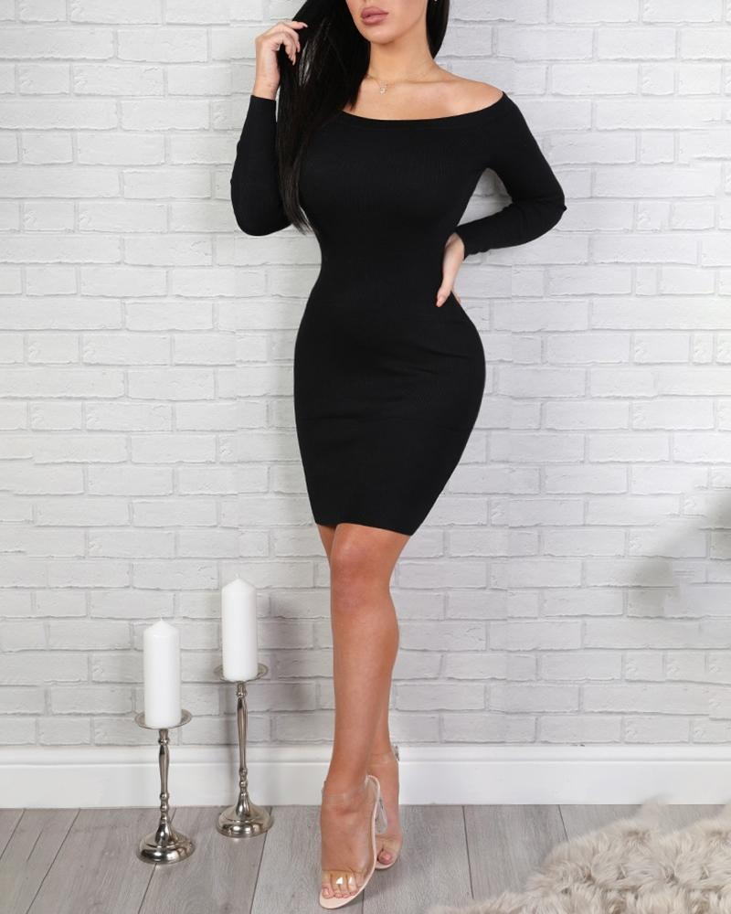 Glitter Ribbon Crisscross Backless Bodycon Dress
