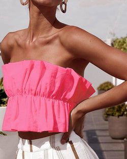 Ruffle Tube Tops