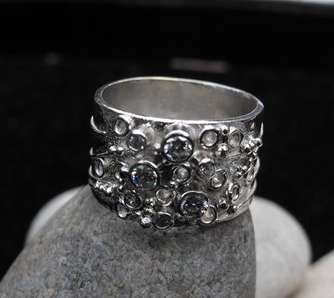 Sterling silver inspiration ring