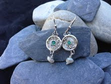 oceana green agate earrings