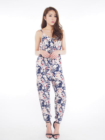 Floral Jumpsuit in Navy
