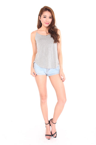 Freida Tank in Grey