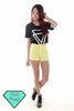Kendra Pastel H/W Shorts (Yellow)
