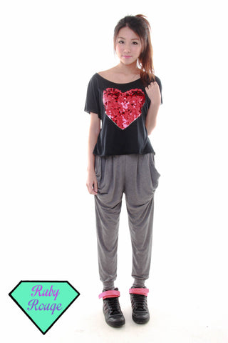 Basic Harem Pants (Grey)