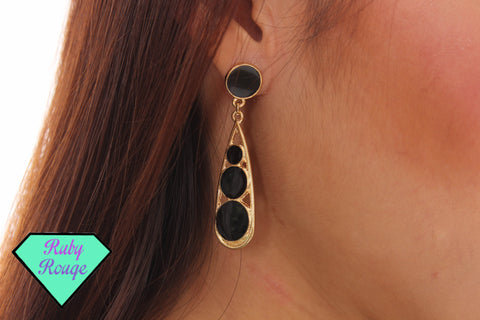 Teardrops Earrings (Black)