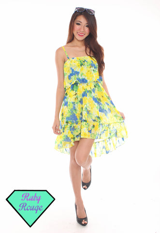 Elaine Floral Fishtail Dress