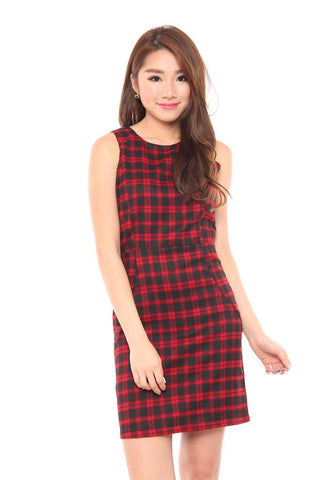 Evelyn Checkered Dress