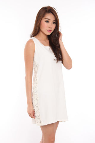 Abrielle Crochet Shift Dress