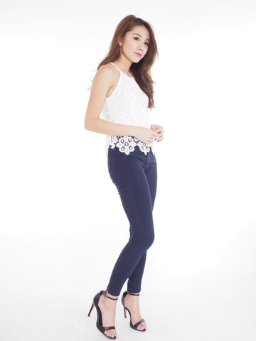 Stretchy Jeggings in Navy