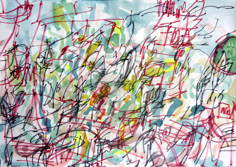 Countryside | 29.7 x 42 cm | felt tip pen & markers on paper | 2013