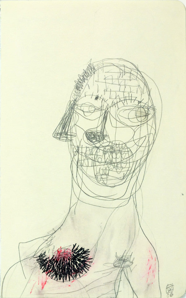 Masked Woman | 21 x 13.1 cm | pen & pencil on paper | 2006