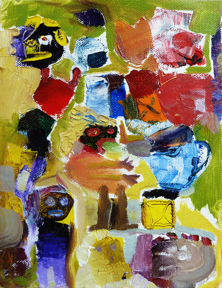 Winner's Reaction | 20.2 x 15 cm | oil on canvas | 2012