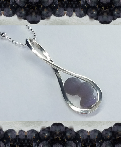 Grape Agate Infinity Pendant Necklace