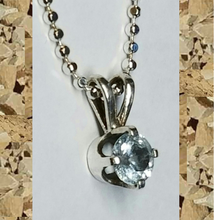 Load image into Gallery viewer, Colorado Aquamarine 5mm Pendant Necklace