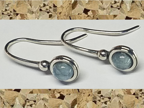 Colorado Aquamarine 5mm Drop Earrings