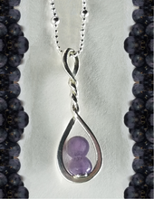 Load image into Gallery viewer, Grape Agate Twist Pendant Necklace