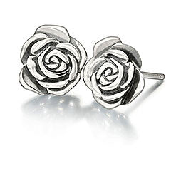 Chamilia Sterling Silver - A Rose is a Rose Earrings 1310-0011