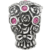 Chamila Sterling Silver w/Stone - Wedding Bouquet - Rose Swarovski 2025-1116-Depot Gifts & Corner Fashions