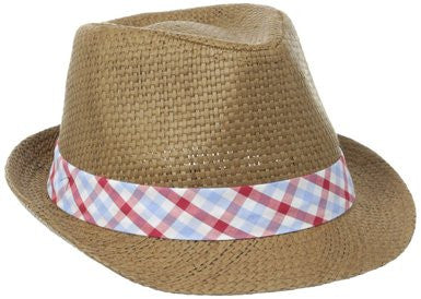 Andy & Evan Red Check Fedora - Red (Style 51101-RDC)
