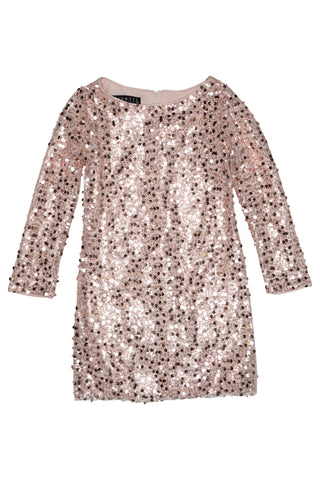 Biscotti 175FSC Filigree Splendor Sequin Dress - Pink-Depot Gifts & Corner Fashions