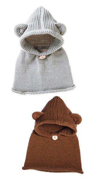 Blossoms & Buds Hooded Knit Bear Hat
