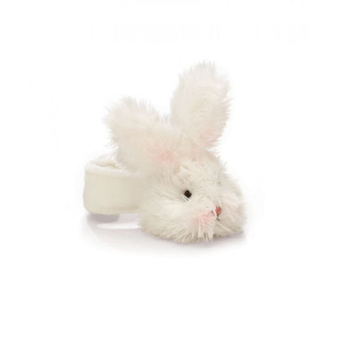 Bunnies By The Bay Bunny Wrist Rattle - Warm White 102162-Depot Gifts & Corner Fashions