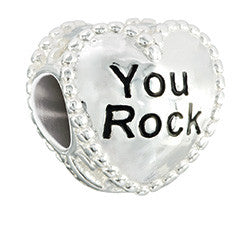 Chamilia Sterling Silver - Candy Hearts - You Rock 2020-0782
