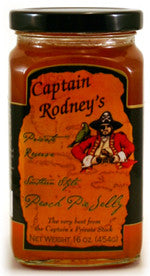 Captain Rodney's Private Reserve Southern Style Peach Pie Jelly 16 oz.