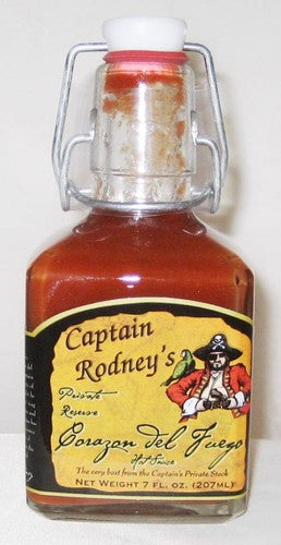Captain Rodney's Corazon del Fuego (Heart of Fire) Hot Sauce