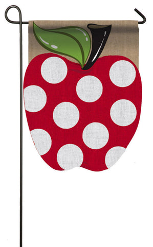 Evergreen Apple Garden Burlap Flag