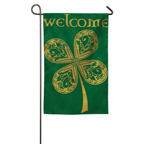 Evergreen Garden Sub Suede Welcome Celtic Flag