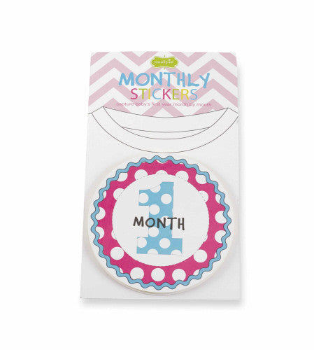 Mud Pie Girl Month Milestone Stickers (1102106)