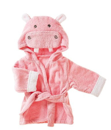 Blossoms & Buds Hippo Terry Cloth Bath Robe