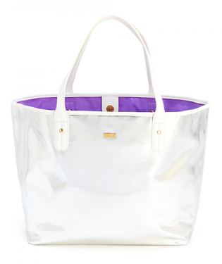 Bando Everything Tote, Silver/White-Depot Gifts & Corner Fashions