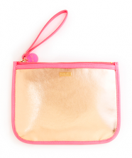 Bando Fancy Clutch w/Wristlet, Rose Gold/Neon Pink-Depot Gifts & Corner Fashions