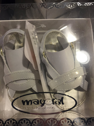 Mayoral 9240 Infant Sandals - White-Depot Gifts & Corner Fashions