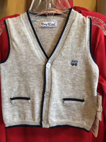 Mayoral Combined Knit Vest - Gray