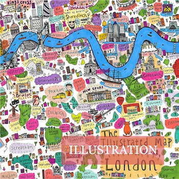 Made in Arts London Illustration Collection Illustrated Map of London Cally Lathey