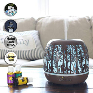 Essential Oil Diffuser, Ultrasonic Aromatherapy Humidifier, 500mL : Beauty