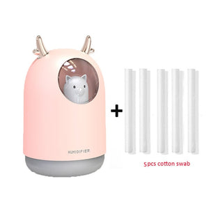 Mini USB Air diffuser humidifier Portable nebulizer Cute air purifier Night light