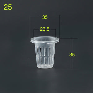 50Pcs Hydroponic colonization Mesh Pot Net Cup Basket Hydroponic Aeroponic Planting Grow Clone Nursery Plant Soilless