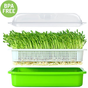 Hydroponics System Wheatgrass Grower Seedling Tray Sprout Plate